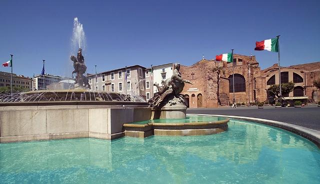 Roma Piazza della Repubblica e luogo del Convegno SL